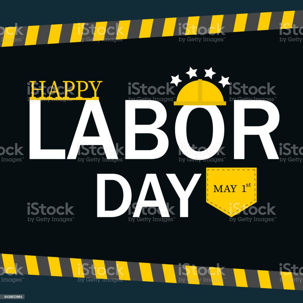 Labor Safety Happy Labor Day Safety Hat Vector Illustration Stock Vector Art