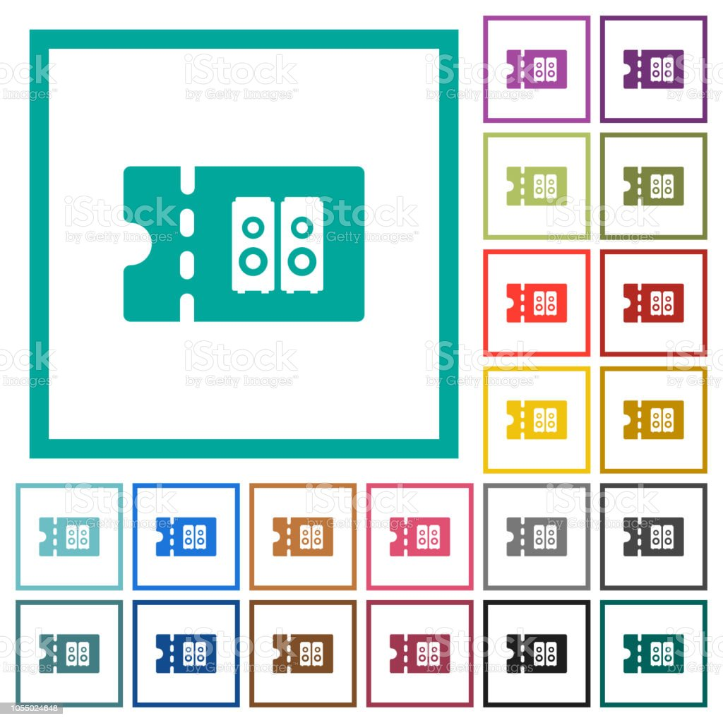 Hifi Shop 24 Hifi Shop Discount Coupon Flat Color Icons With Quadrant Frames