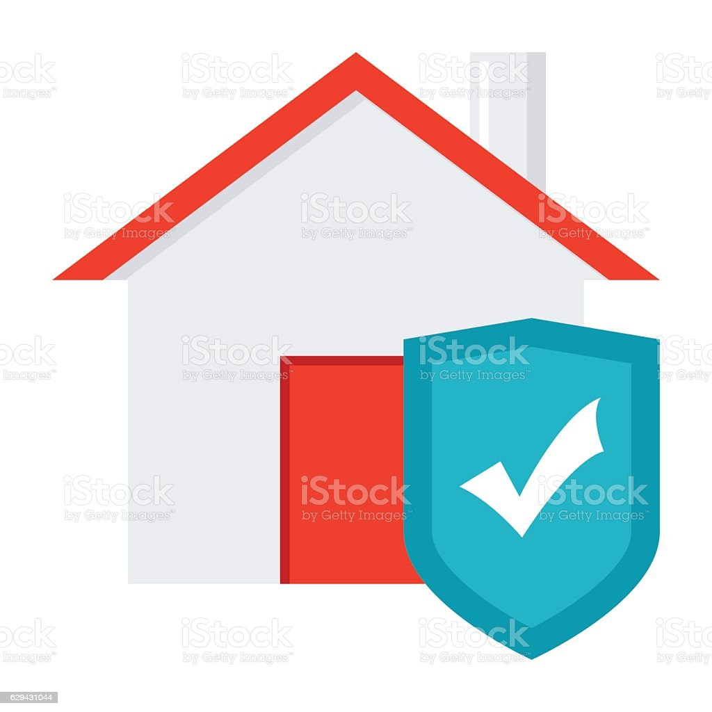 Seguros Hogar House With Shield Concept For Home Insurance