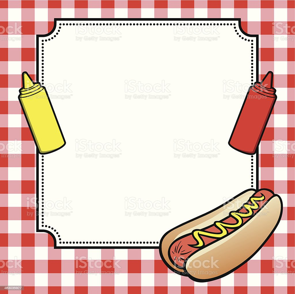 Hot dog cookout invite royalty free stock vector art
