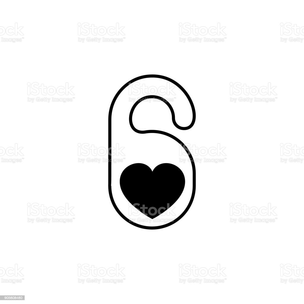 Lov Hotel Collection Hotel Tag With Heart Shape Icon Love And Valentines Day Element