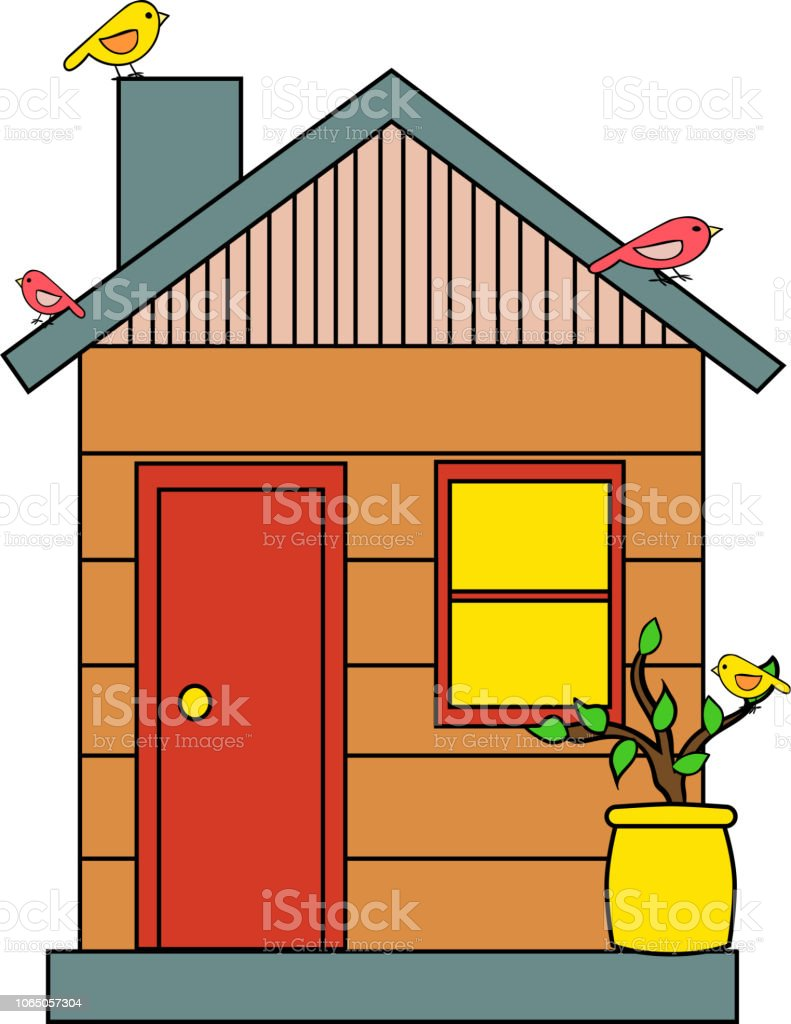 La Maison Dessin Illustration De La Maison À Vecteur Conception De Dessin Animé