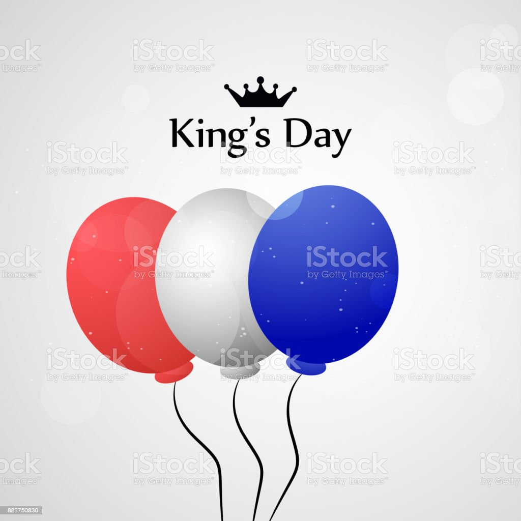 Baby Koningsdag Illustration Of Koningsdag Or Kings Day Background Stock Vector
