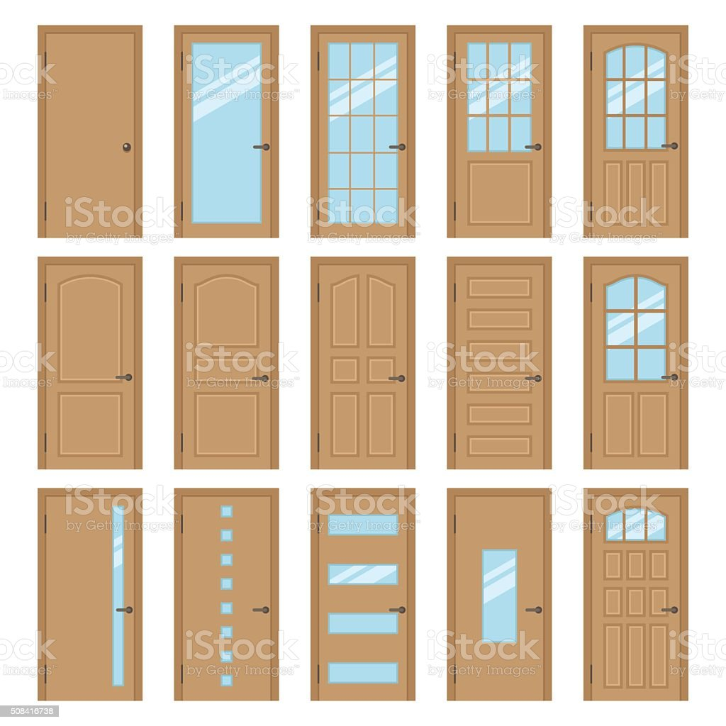 Materiel Culture Interieur Interior Doors Stock Vector Art And More Images Of