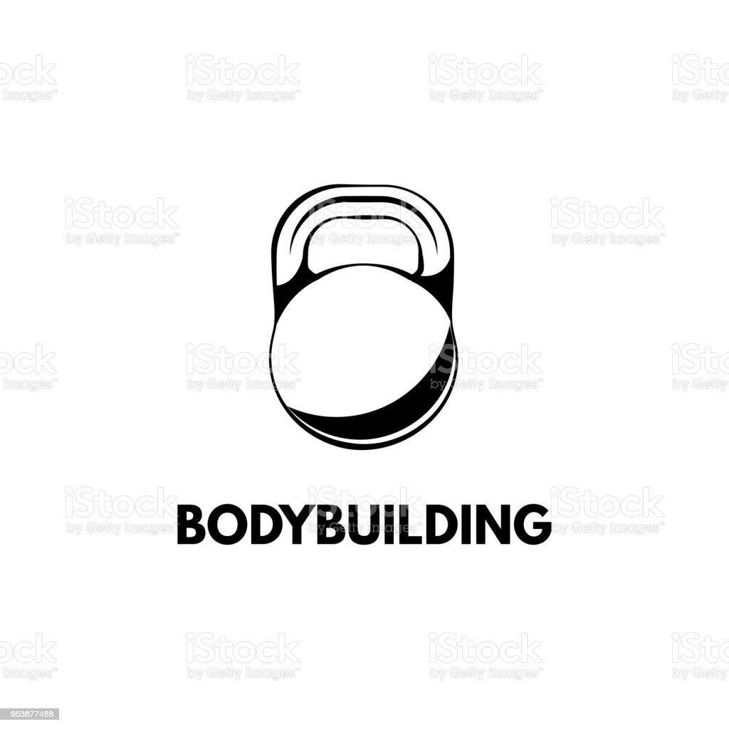 Kettlebell Bodybuilding Kettlebell Design Template Fitness Logo Bodybuilding Badge Vector