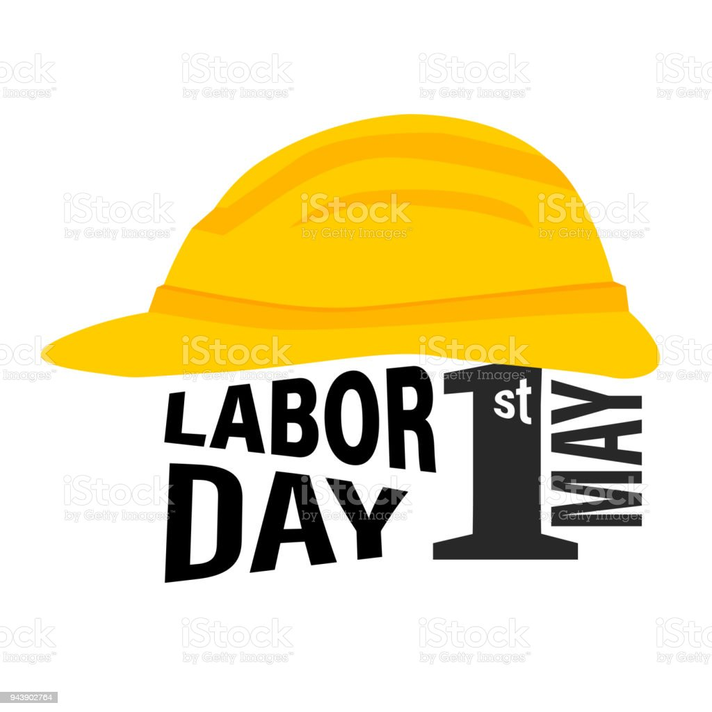 Labor Safety Labor Day 1st May Safety Helmet Vector Illustration Stock Vector