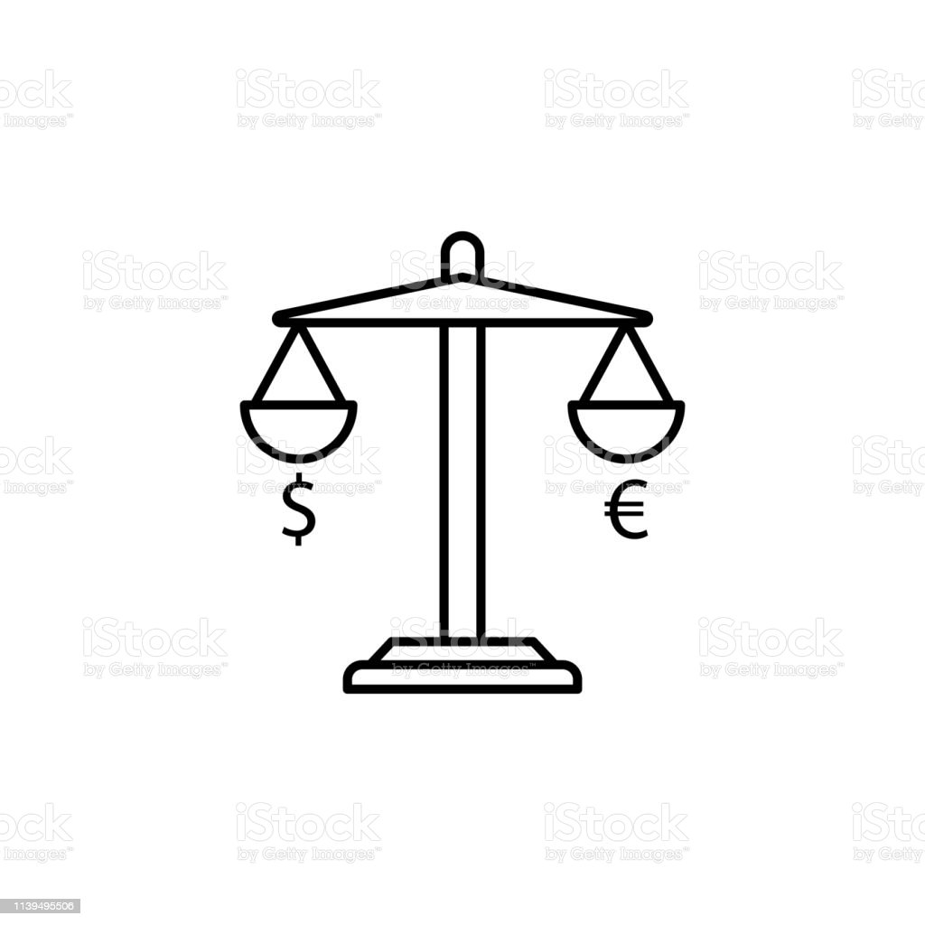 Libra A Euro Libra Dollar Euro Icon Element Of Finance Illustration Signs And