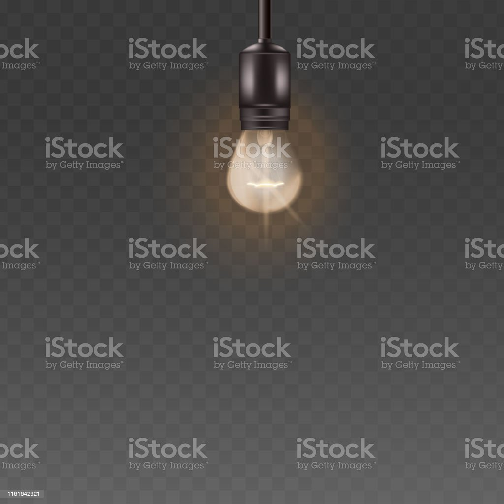 Glass Lamp Vector Light Bulb Or Glass Electric Lamp Vector 3d Realistic