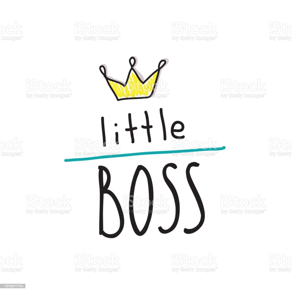 Clothes Quotes Little Boss Slogan Hand Lettering Quotes To Print On Babies