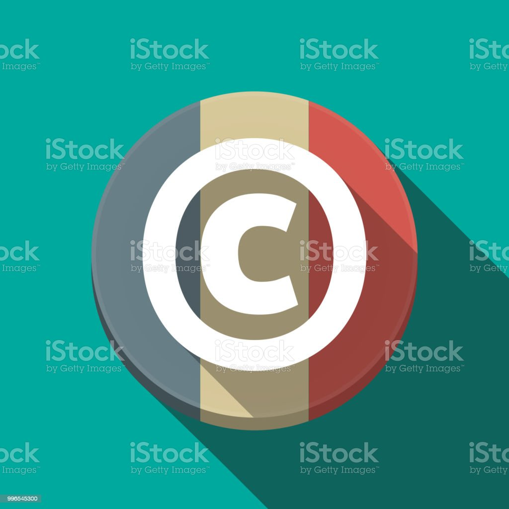 Fotos Libres De Derechos De Autor Illustration Of Along Shadow Round France Flag Button With The