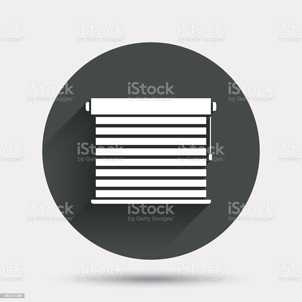 Jalousie Petrol Louvers Sign Icon Window Blinds Or Jalousie Stock Vector Art