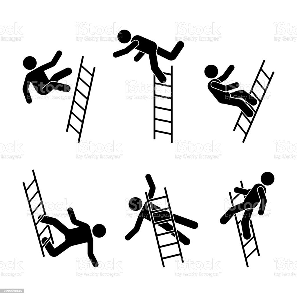 Royalty Free Ladder Fall Clip Art Vector Images