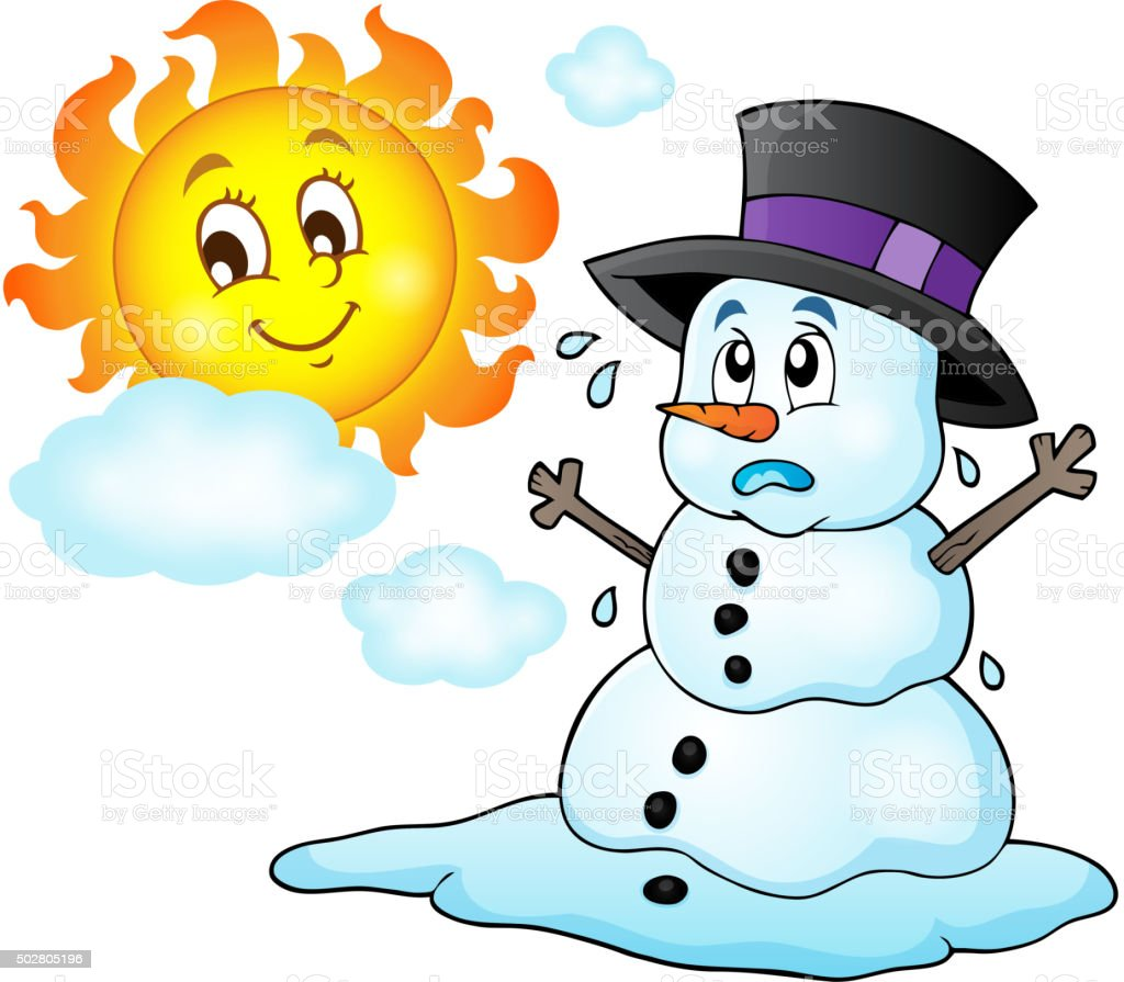 Melting Snowman Theme Image 1 Stock Illustration Download Image Now Istock