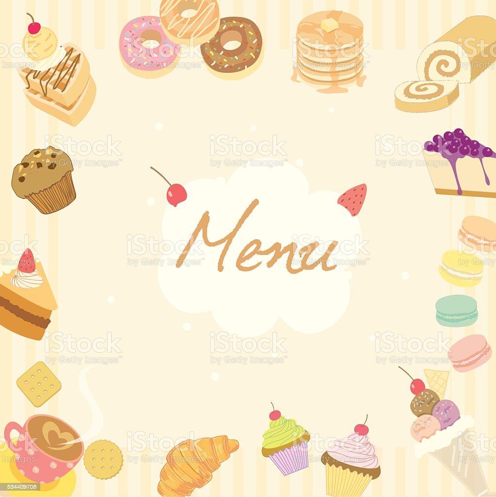Bakery Wallpaper Hd Menu Cafe Beige Background Stock Vector Art 534409706 Istock