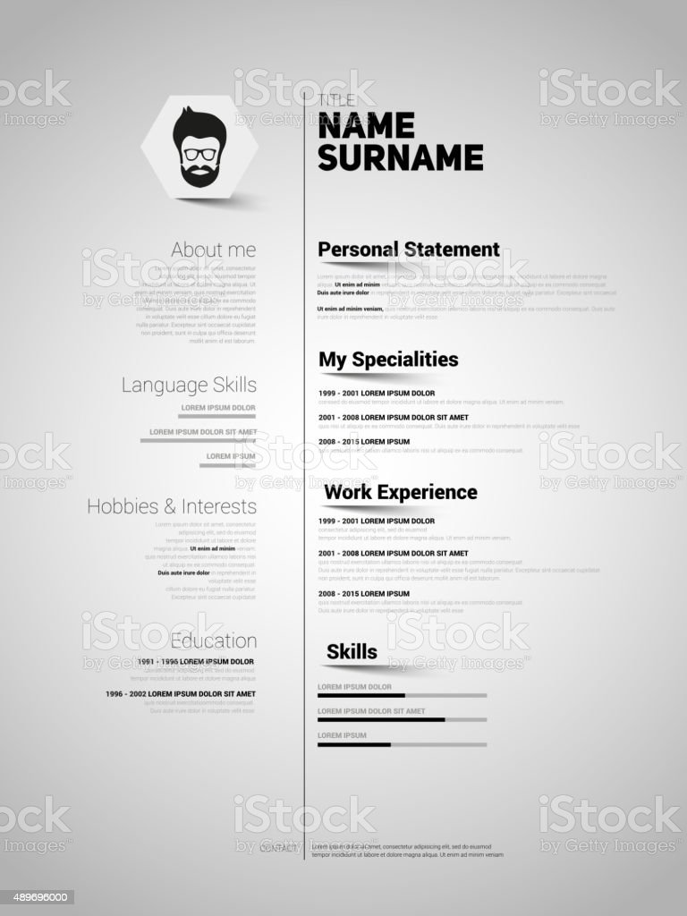 resume template vector free download