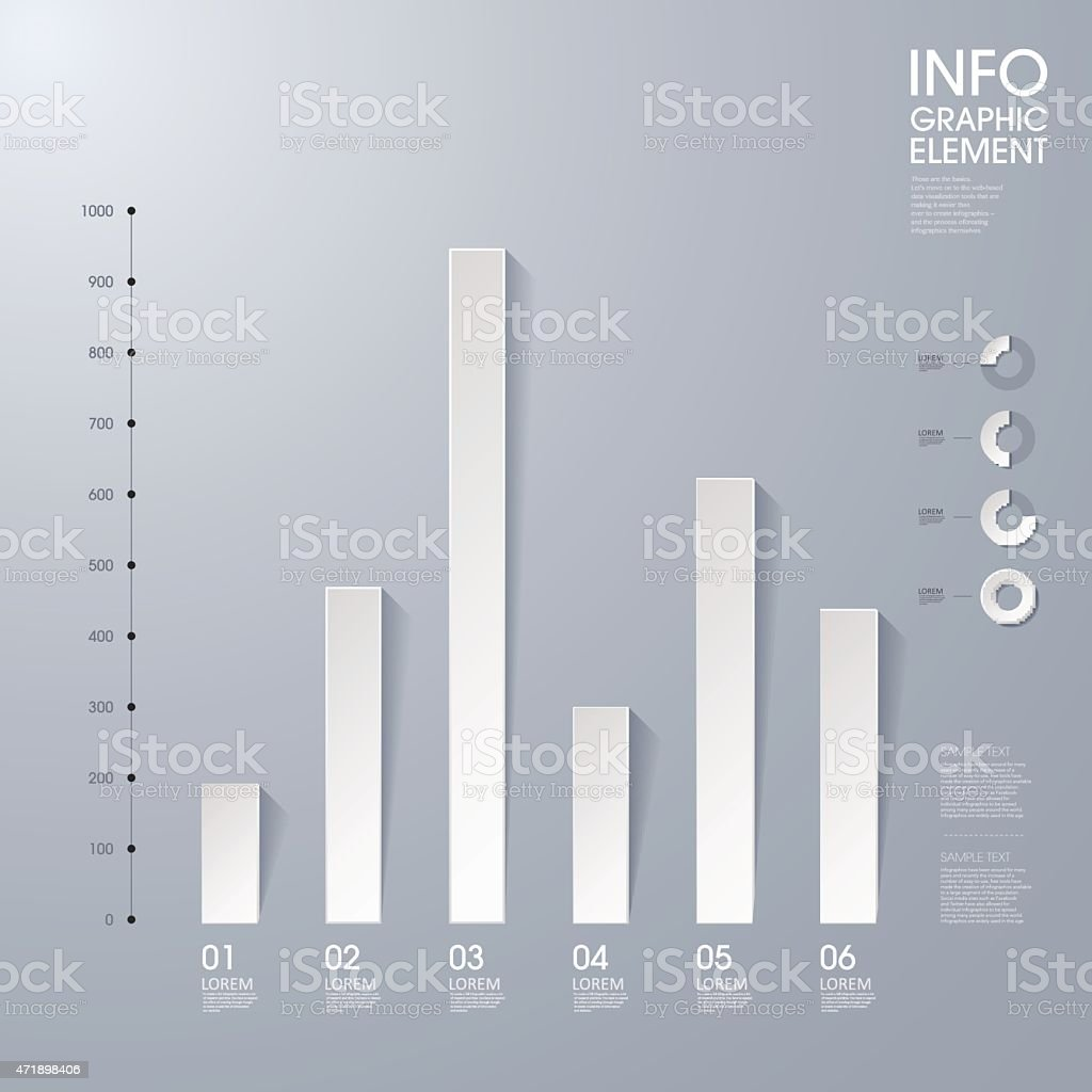 Shads Of Gray Modern Vector Abstract Bar Chart In Shades Of Gray Stok Vektör