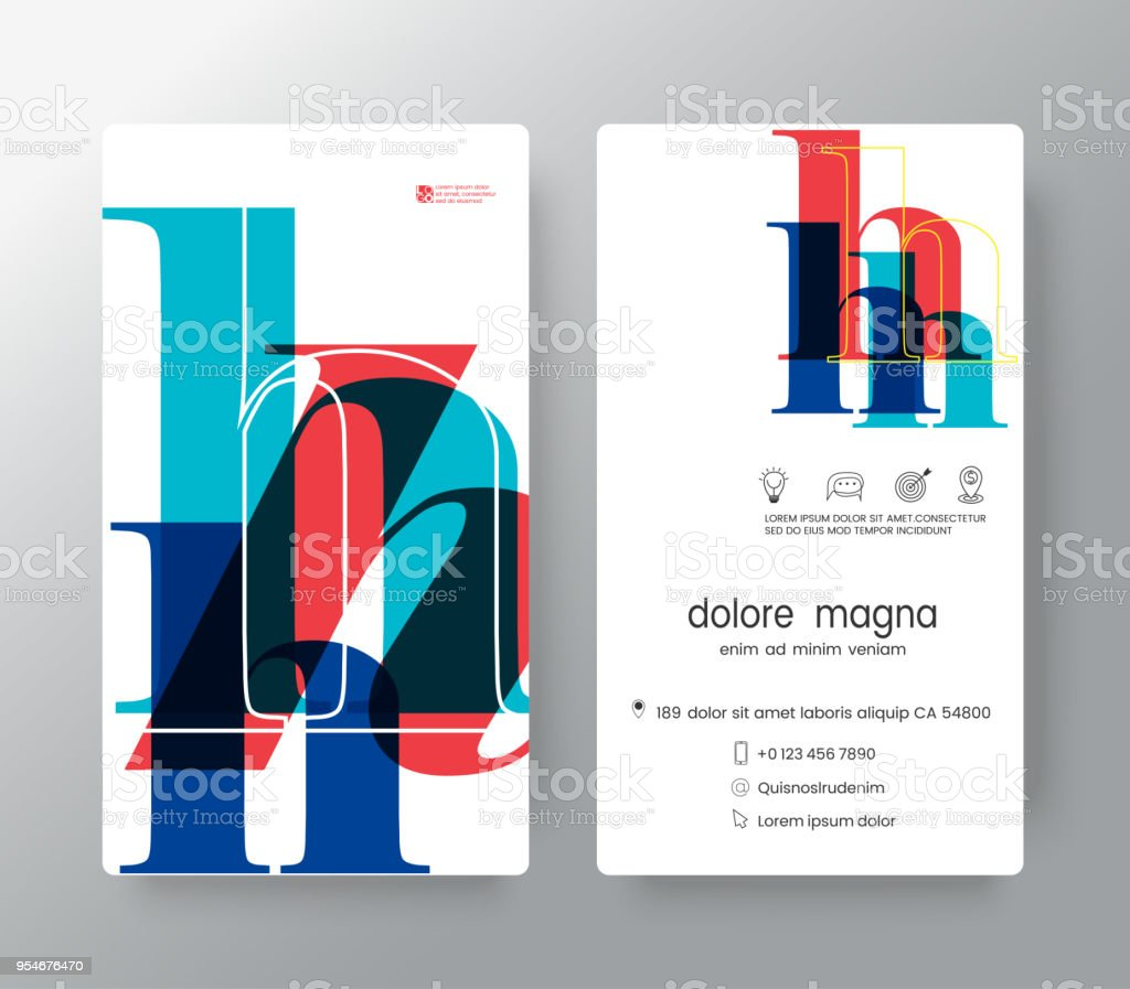Corporate Graphic Design Number H Business Card Design Template Vector Graphic Design