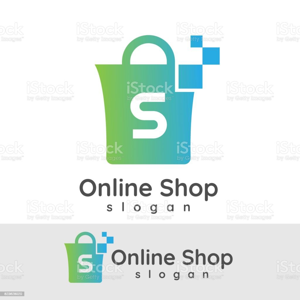 Design Online Shop Online Shop Initial Letter S Icon Design Stock Vector Art More