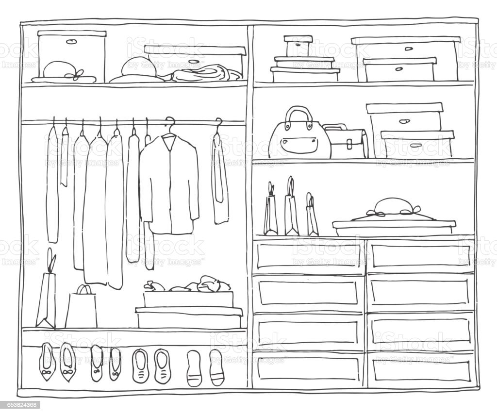 Closet Illustrations Royalty Free Vector Graphics Clip