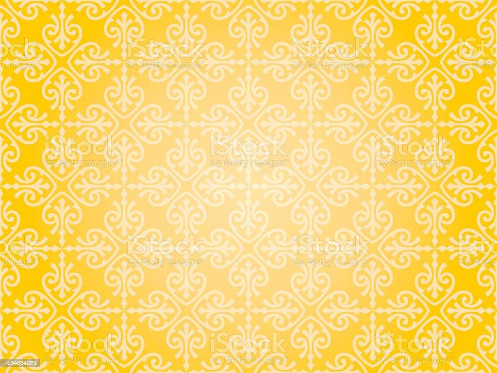 Orange Yellow Wallpaper Background Design Stock Vector Art