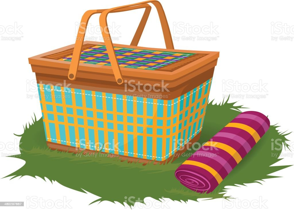 Royalty Free Picnic Basket Clip Art Vector Images