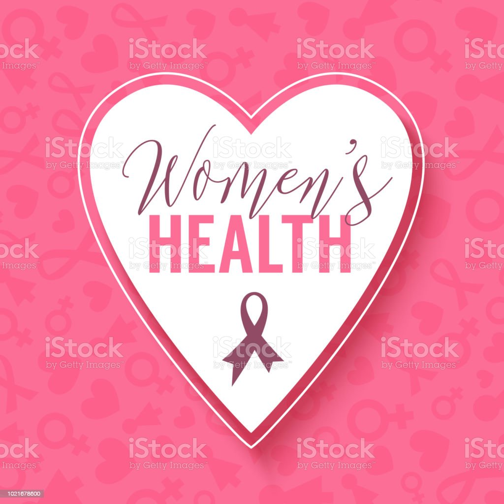 Herz Rahmen Pink Vector Background With Heart Frame Womens Health Breast Cancer