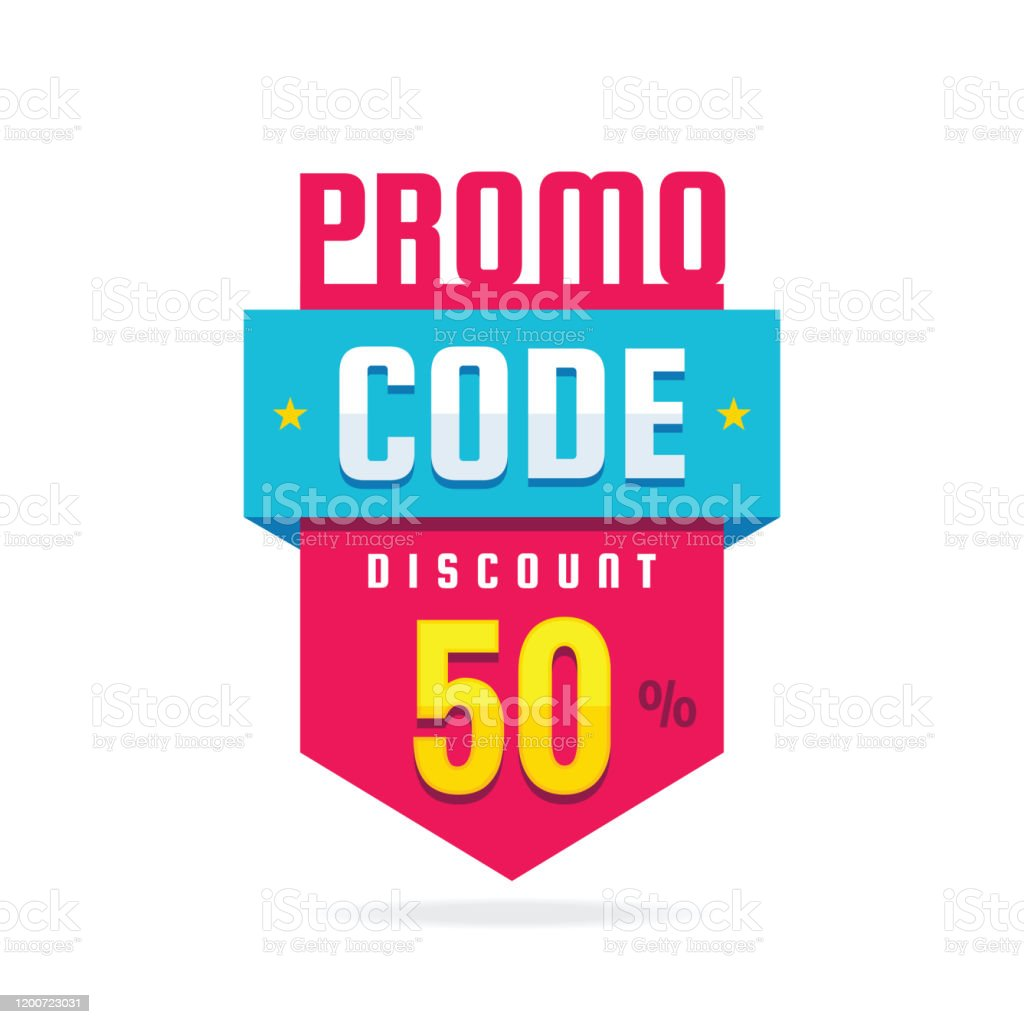 Promo Code Coupon Design Advertising Promotion Banner For Discount 50 Off Sale Poster Stock Illustration Download Image Now Istock
