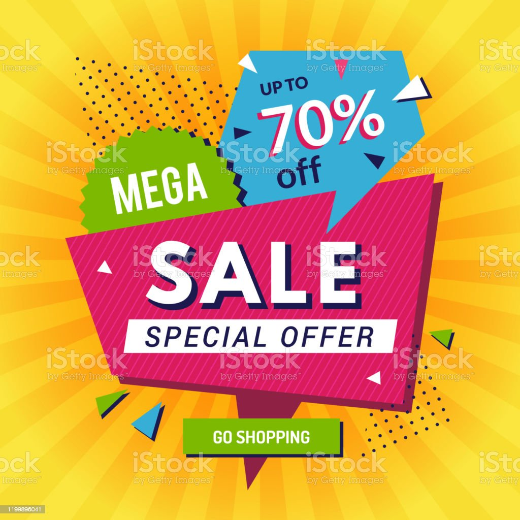 Promo Poster Big Sales Discount Announce Shopping Banners Advertising Background Vector Template Stock Illustration Download Image Now Istock