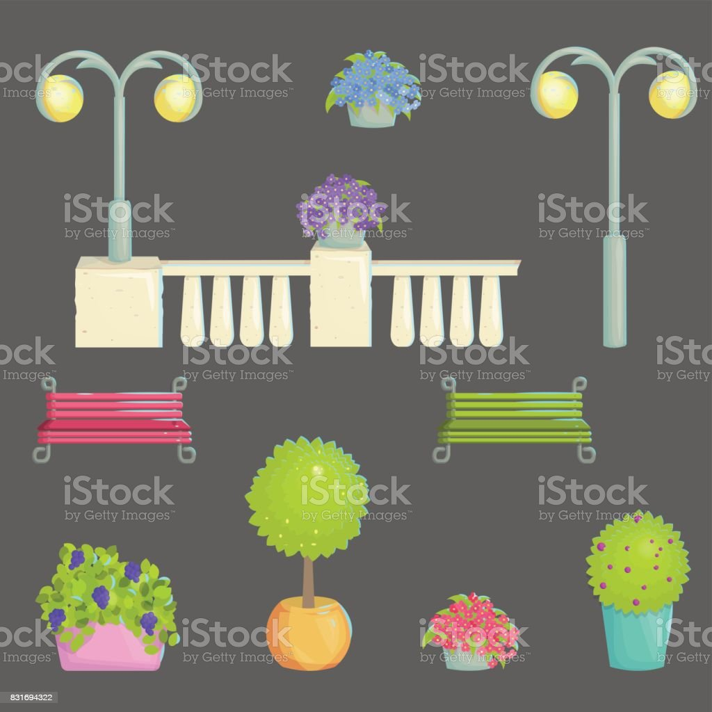 Provence Decoration Provence Style Outdoor Park Decoration Stock Vector Art More