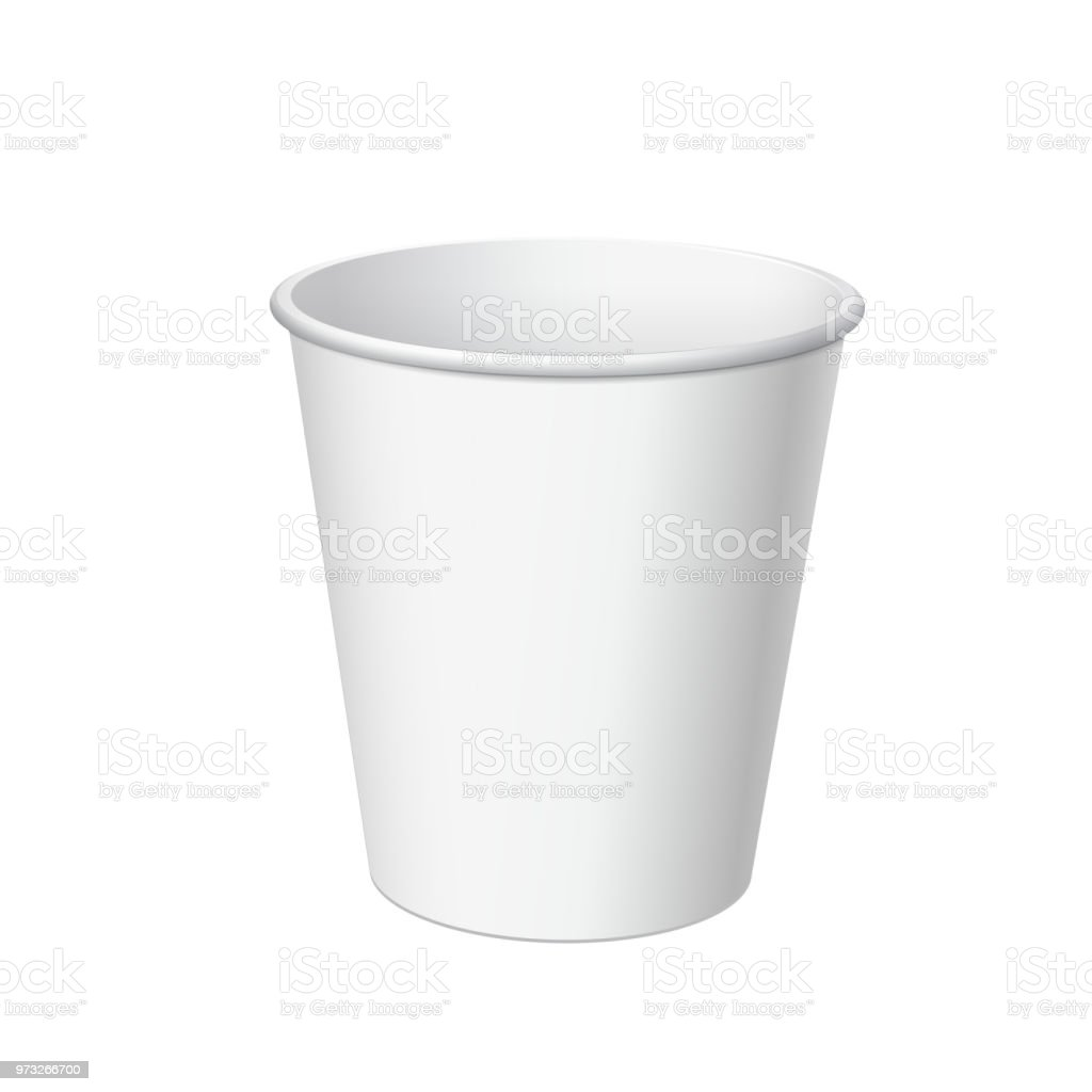 Kleine Plastikbecher Realistic White Disposable Small Paper Cup For Various Drinks