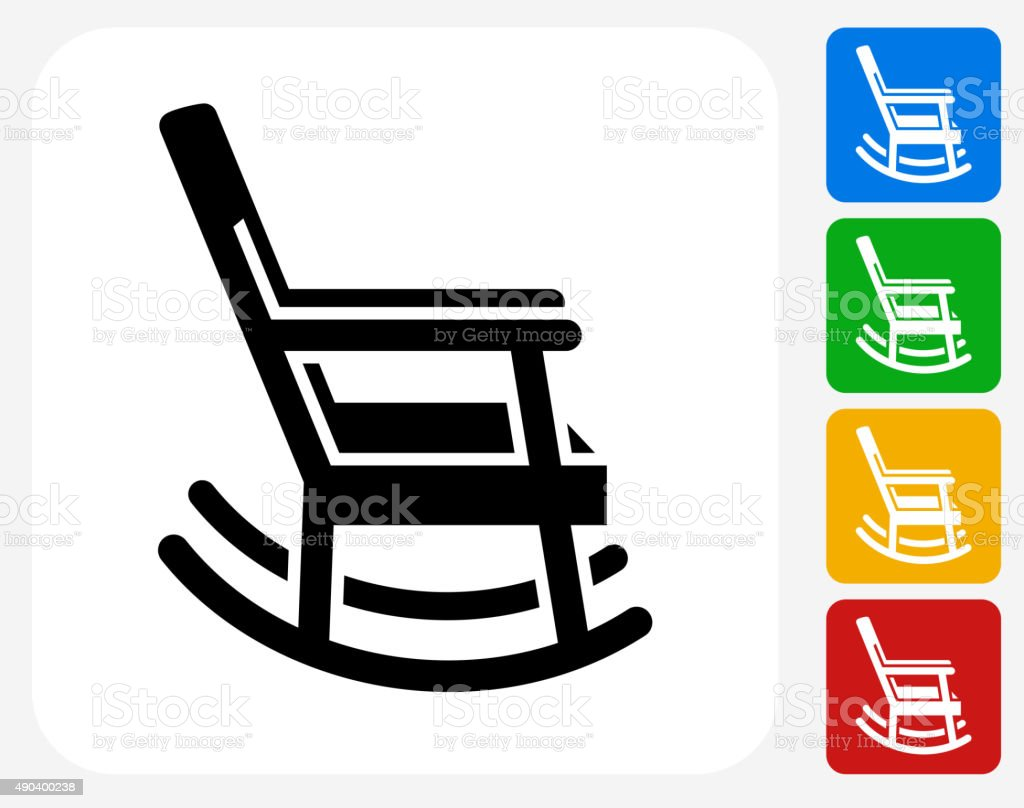 Mexico Chair Schaukelstuhl Rocking Chair Icon Flat Graphic Design Stock Vector Art More