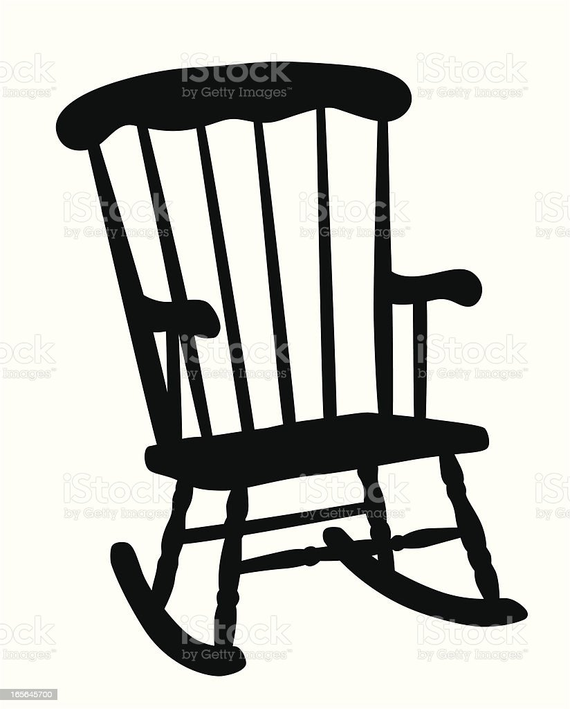 Mexican Rocking Chair Rocking Chair Vector Silhouette Stock Illustration Download Image Now