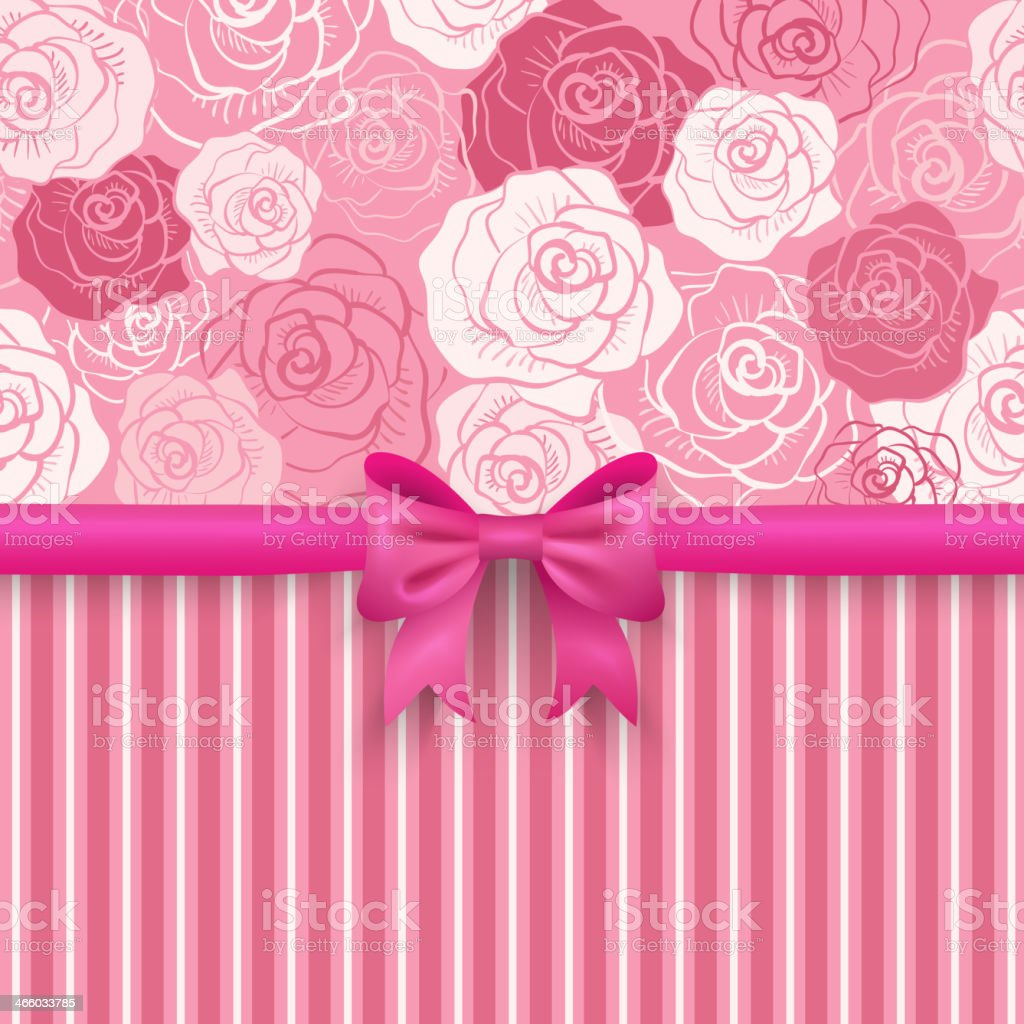 Romantic vector seamless background greeting card wallpaper royalty free stock vector art
