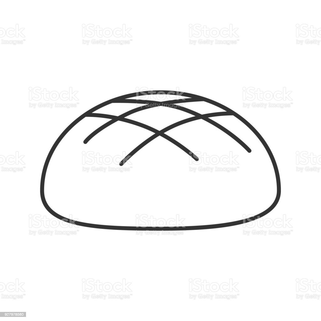 Loaf Clipart Black And White Round Rye Bread Loaf Icon Stock Vector Art And More Images