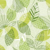 Seamless Leaf Pattern In Shades Of Green Stock Vector Art ...