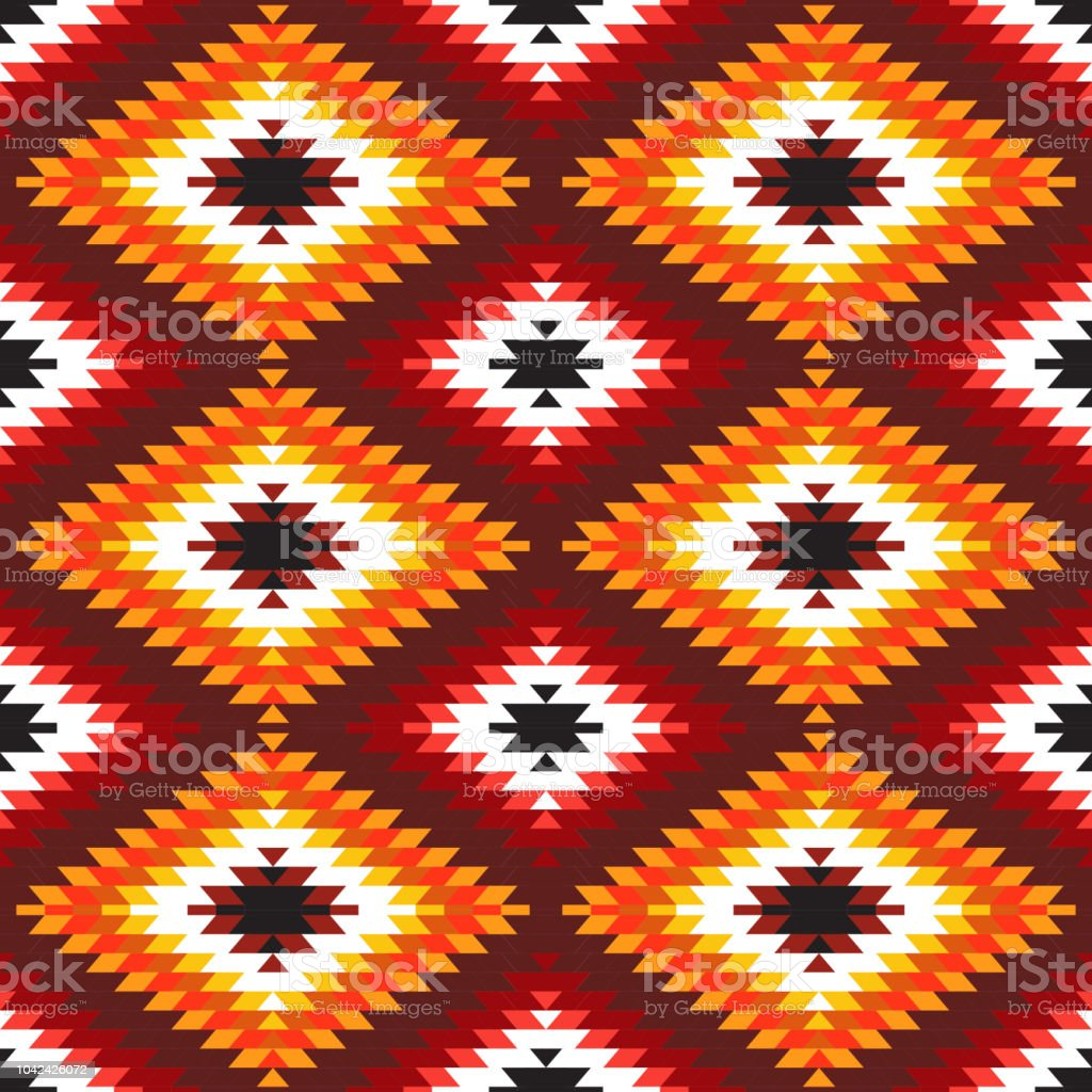 Tapis Style Kilim Seamless Pattern Turkish Carpet White Red Orange Claret Burgundy