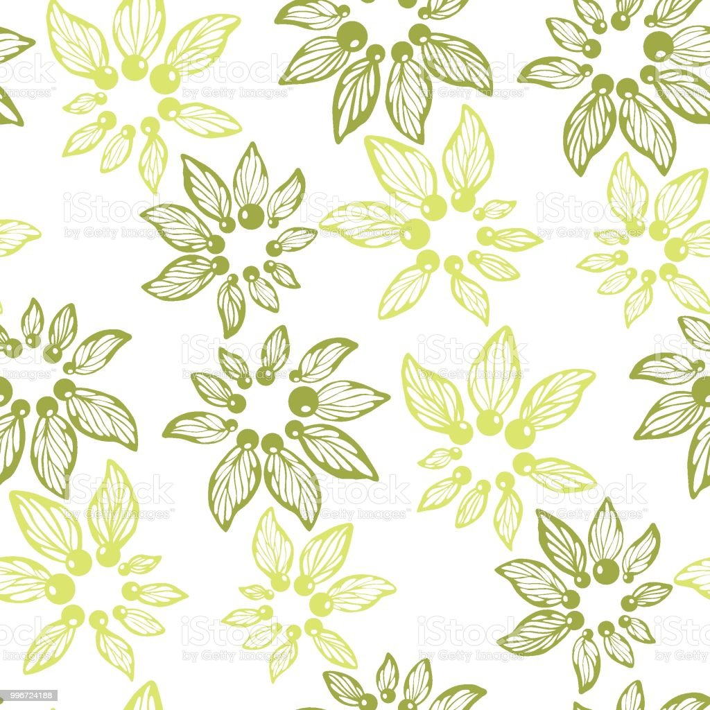 Herbal Wallpaper Seamless Pattern Vector For Wallpaper And Fabric Textile With