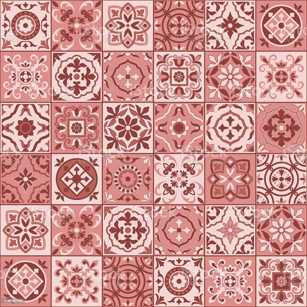 Lisbon Wallpaper Hd Seamless Pattern White Marsala Color Moroccan Portuguese