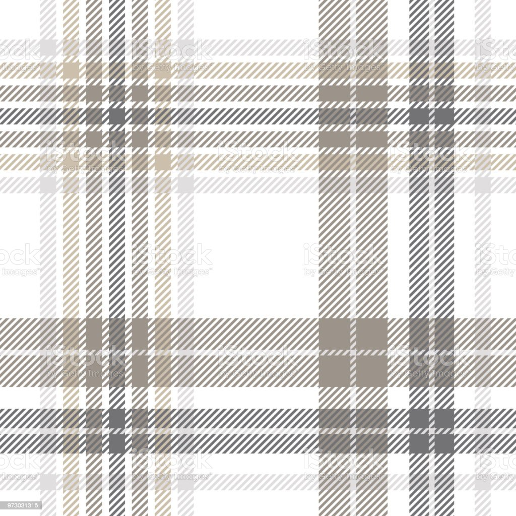 Plaid Taupe Seamless Plaid Check Pattern In Gray Taupe Brown And White Stock