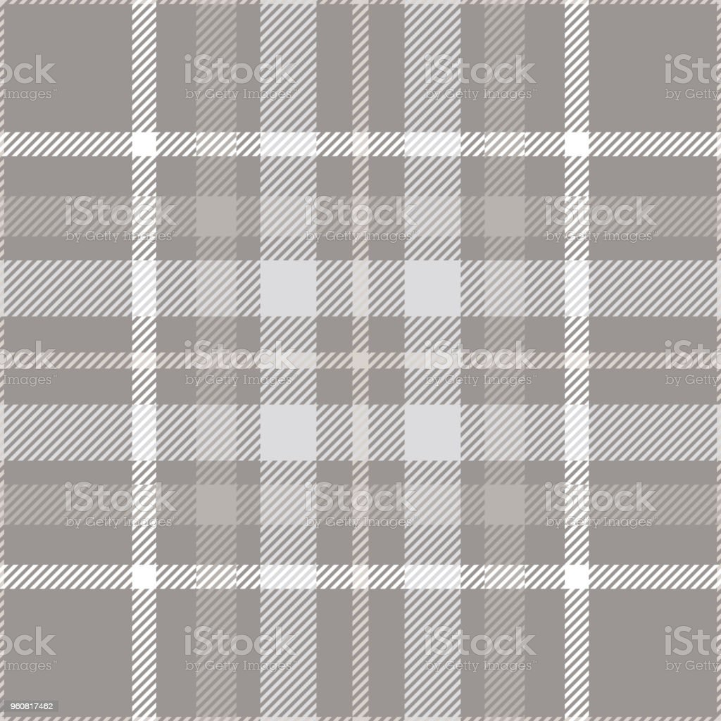 Plaid Taupe Seamless Plaid Check Pattern In Shades Of Taupe Gray And White