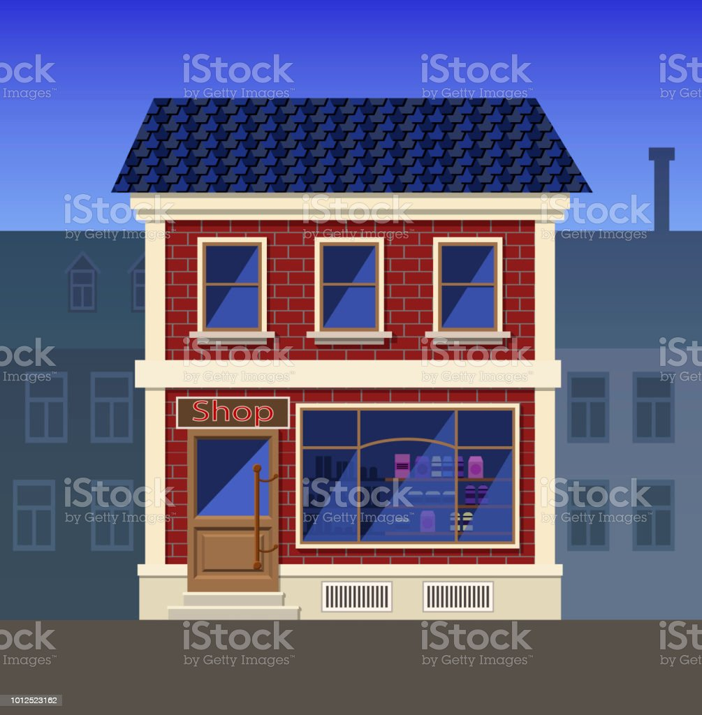A Small Grocery Store In The Old House Stock Illustration Download Image Now Istock