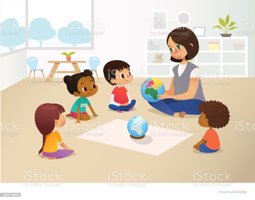 Royalty Free Preschool Circle Time Clip Art Vector Images