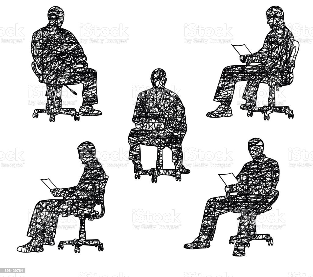 Spinning Chair Spinning In An Office Chair Stock Vector Art More Images Of