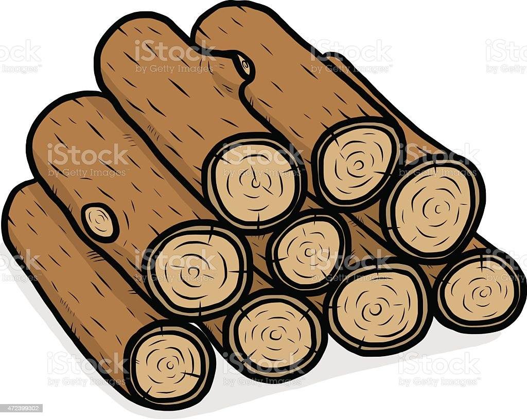 Holzstapel Clipart Best Firewood Pile Illustrations, Royalty-free Vector