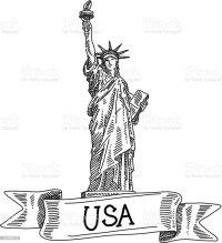 Statua Della Libert Disegno - Immagini vettoriali stock e ...