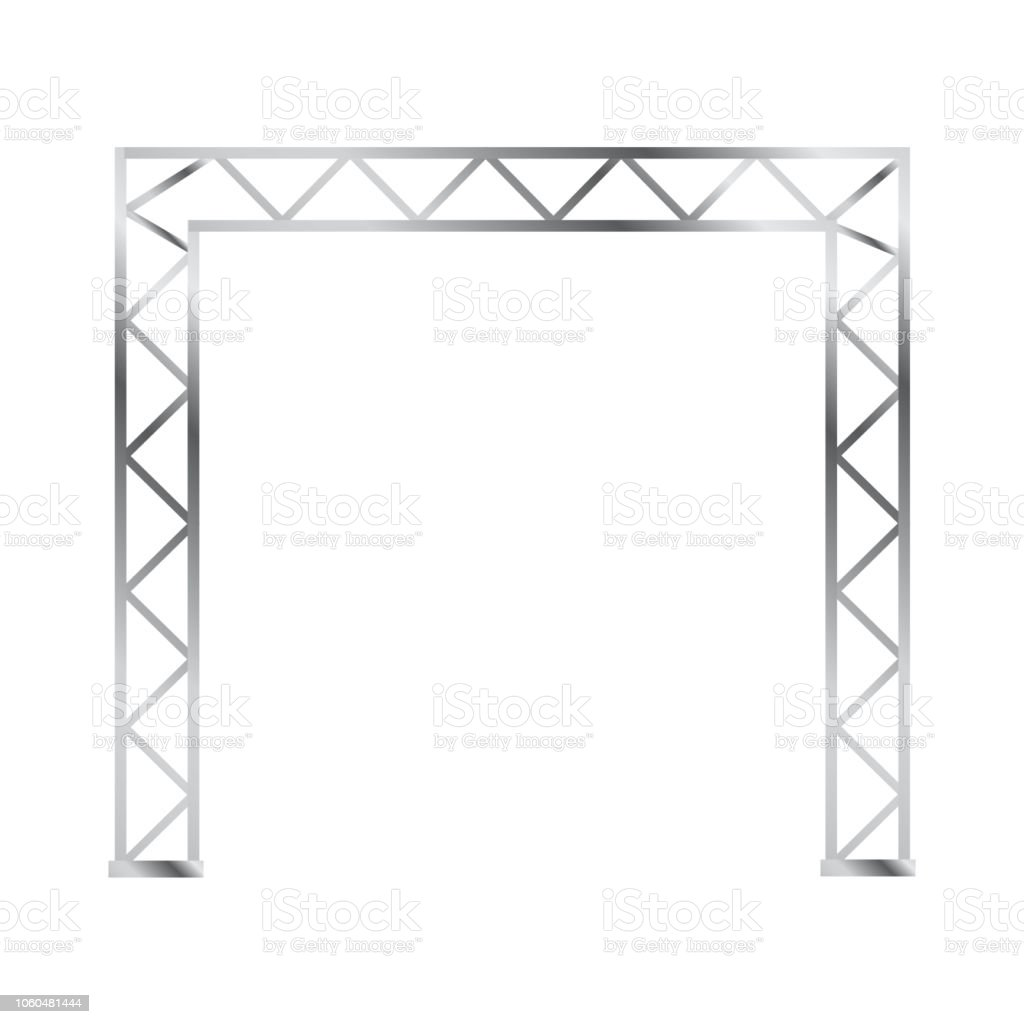 Poutre Treillis Steel Truss Girder 3d Construction Equipment Metal Framework