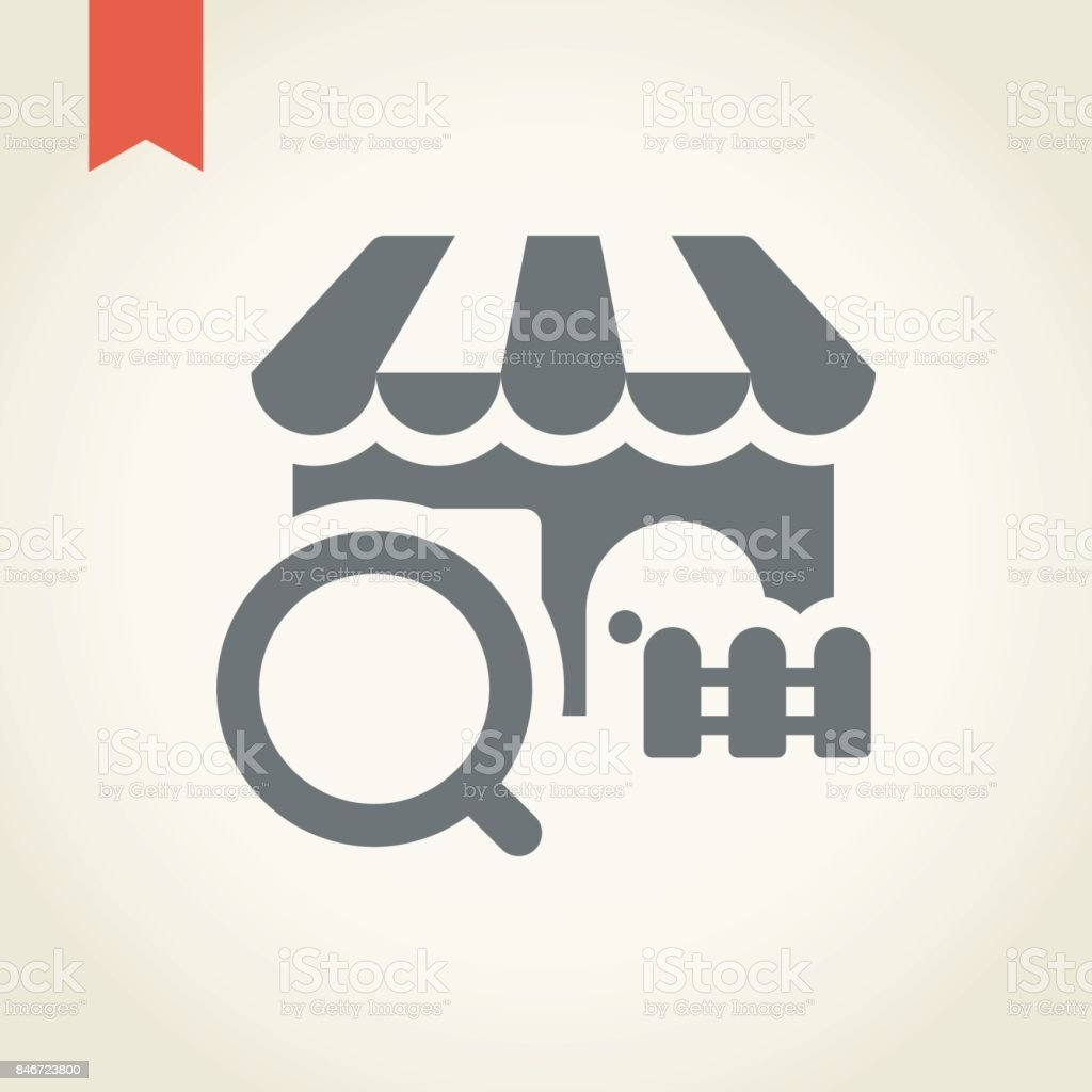 Store Finder Store Finder Icon Stock Vector Art More Images Of Business