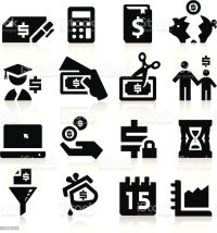 Tax Vector Icons Stock Vector Art & More Images of Black
