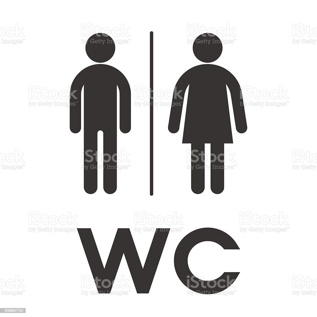 Photo De Wc Toilet Wc Restroom Sign Symbol Male And Female Toilet