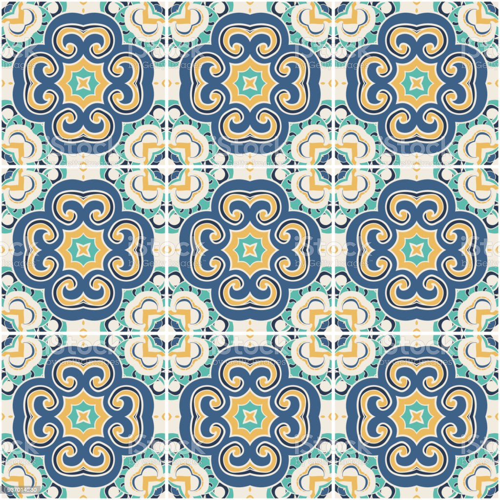 Azulejos De Colores Traditional Color Ornate Portuguese Decorative Tiles Azulejos
